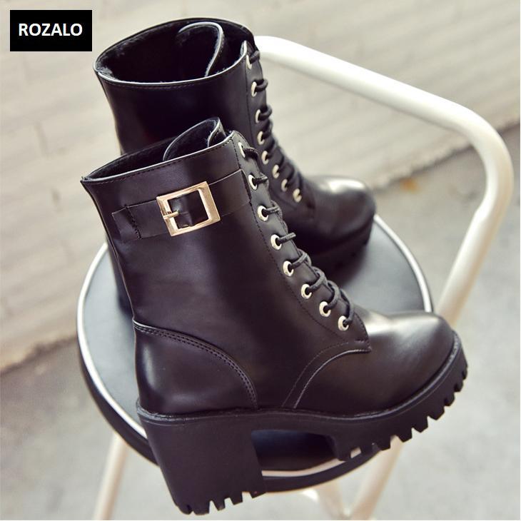 Giày boot nữ cổ cao đế vuông chống trượt Rozalo RW81130B-Đen9.png