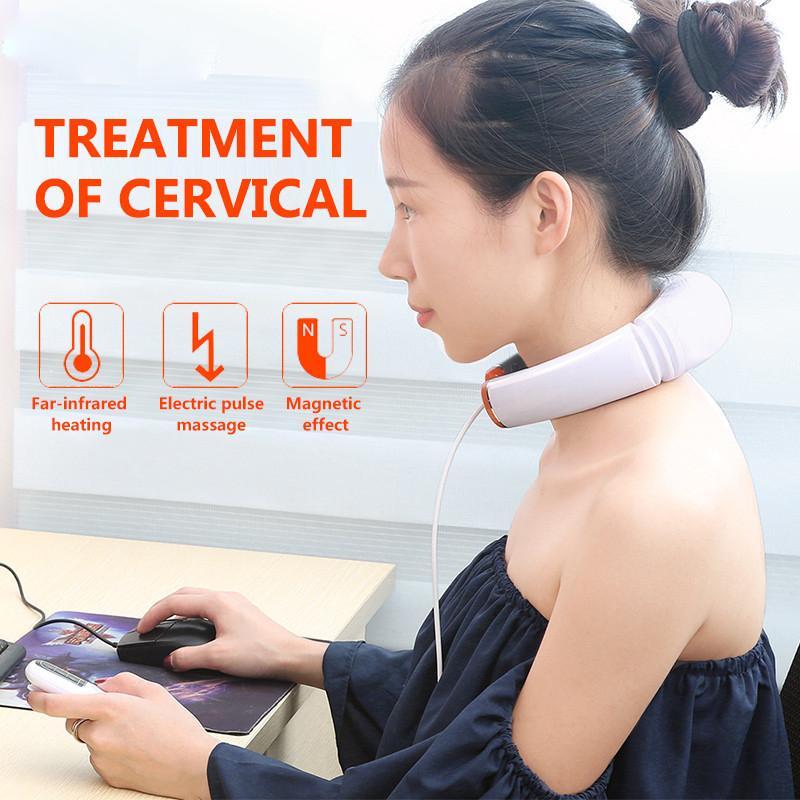Máy Massage cổ cảm ứng xung điện 3D thông minh KL - 5830