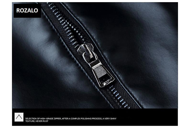 Áo da nam thời trang cổ tròn Rozalo RM8916B-Đen7.jpg