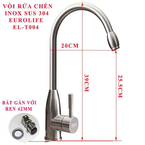 Vòi rửa chén nóng lạnh Inox SUS 304 Eurolife EL-T004.jpg