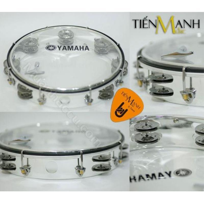 Trống lắc tay - Lục lạc gõ bo Tambourine Yamaha MT6-102T (Trong suốt - Trống chơi nhạc chế gõ po - Xipo - Tặng móng gẩy Tiến Mạnh Music)