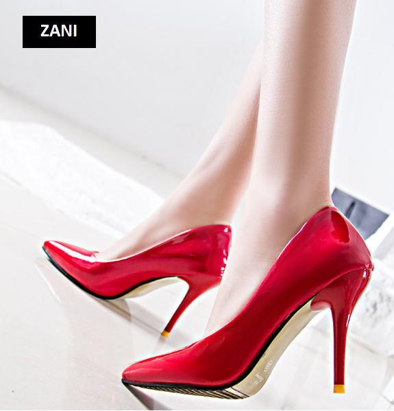 Giày cao gót nữ công sở 8cm ZaniZW31897R-Đỏ