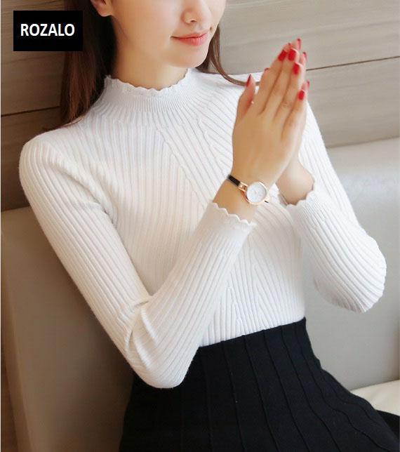 Áo len thu đông nữ dài tay cổ lọ Rozalo RW2181W-Trắng.jpg