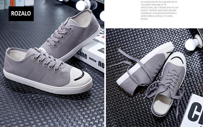 Giày vải  nam mũi bọc cao su dẻo vải chống mài mòn Rozalo RM56658 13.png