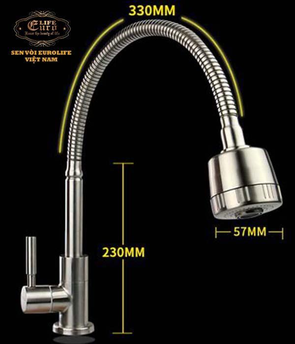 Vòi rửa chén lạnh cần lò xo Eurolife EL-T025.jpg