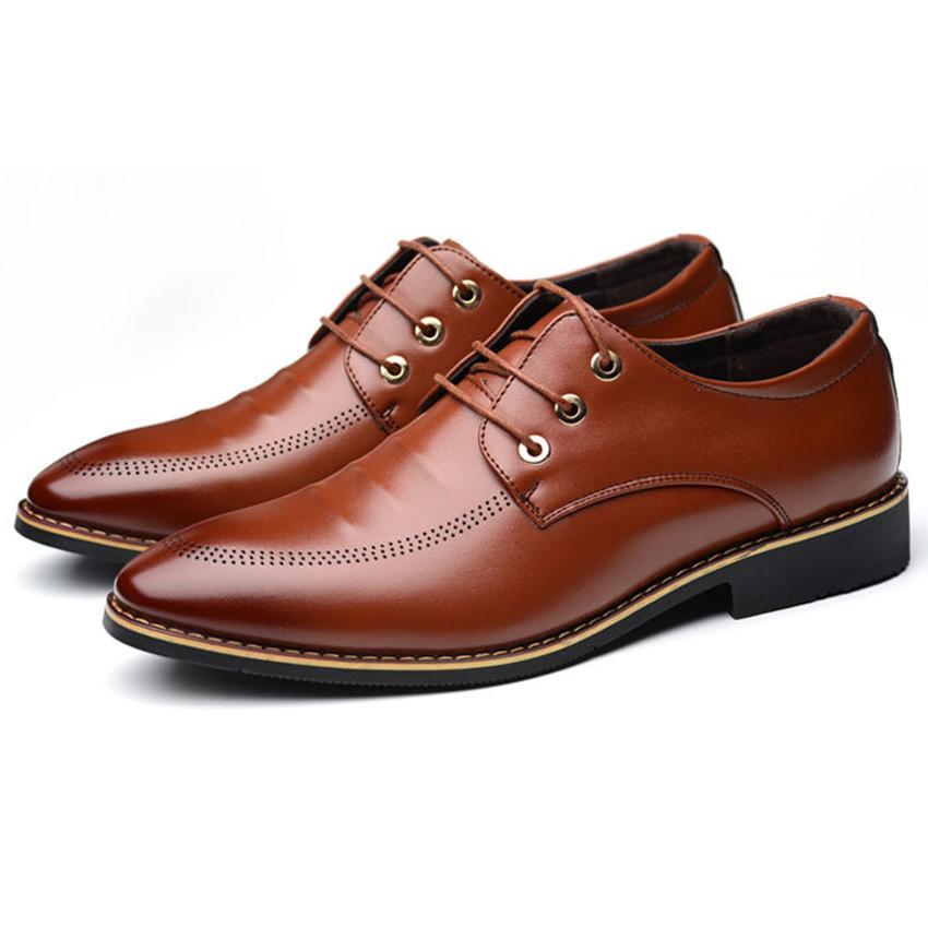 Giày Công Sở Cao Cấp - Pettino GD12 (nâu)