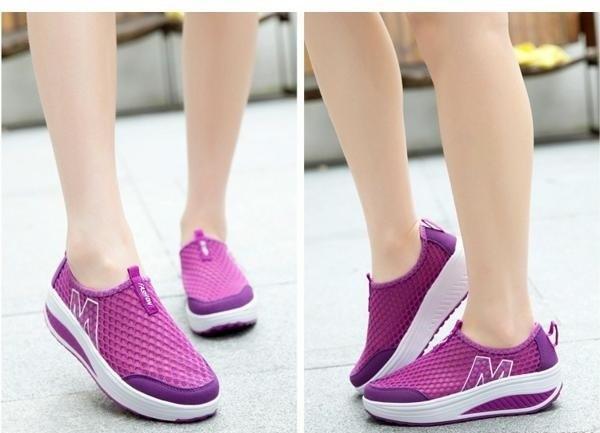 Giày lưới thể thao nữ đế cao ZANI ZN53308V-Tím