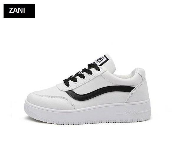Giày sneaker thời trang nữ ZANI ZN8001W-Trắng