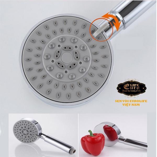 Bộ tay dây sen 5 chế độ nước chảy Eurolife EL-100SH-2.jpg