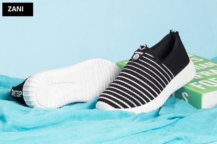 Giày Sneaker thể thao nữ ZANI ZN6615B-Đen