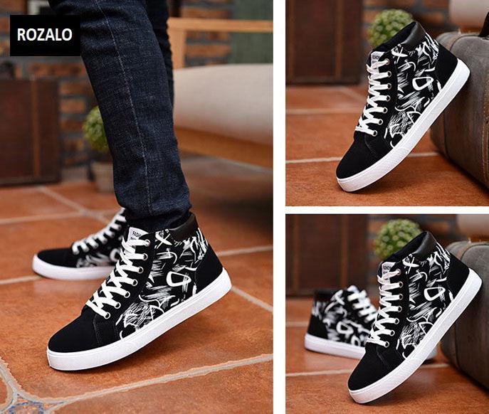 Giày cổ cao thời trang nam Rozalo RM6509B-Đen6.jpg