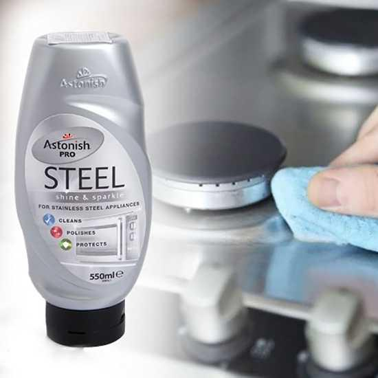 Chất tẩy rửa kim loại Astonish Pro Steel 550ml - C1086