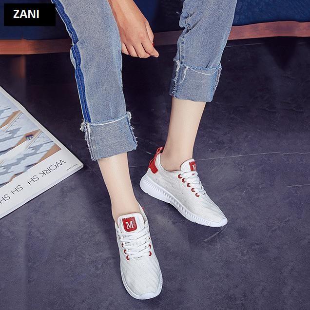 Giày sneaker thời trang nữ Rozalo RW42301W-Trắng