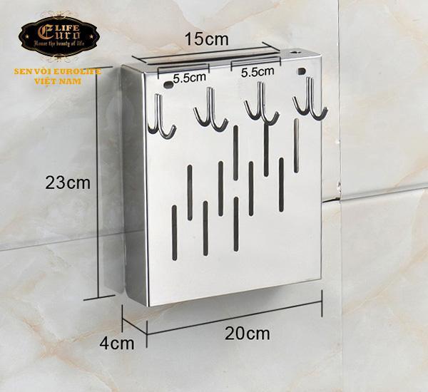Kệ cài dao - muỗng Inox SUS 304 Eurolife EL-K6-2.jpg