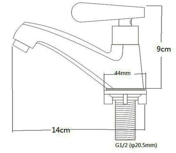 Vòi Lavabo lạnh Inox SUS 304 Eurolife EL-122 -8.jpg