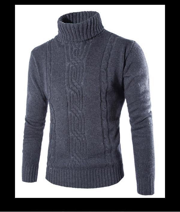 Áo len nam cổ cao thời trang Rozalo RM80306G- Xám3.png
