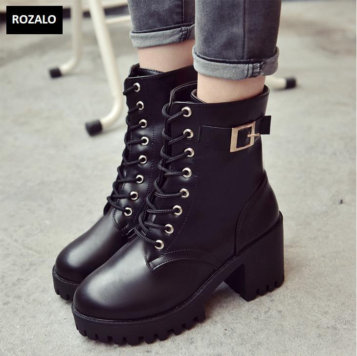 Giày boot nữ cổ cao đế vuông chống trượt Rozalo RW81130B-Đen3.png