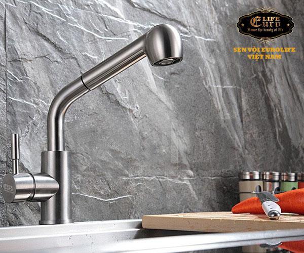 Vòi rửa chén nóng lạnh tay kéo Inox SUS 304 Eurolife EL-T010 -8.jpg