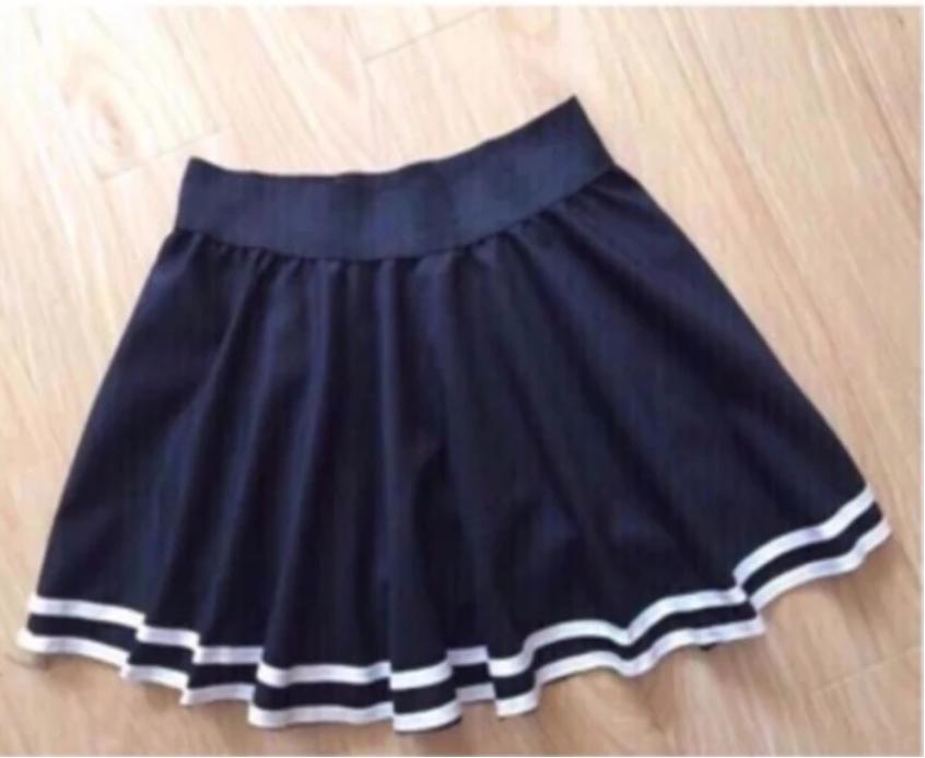 Chân Váy Xòe Phối Viền Hàn Quốc - BT Fashion (Lưng Thun-Đen) VA001a - Ảnh 7