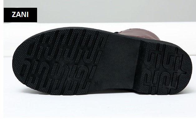 Giày boot nữ cổ cao chống nước Zani ZW58866B-Đen