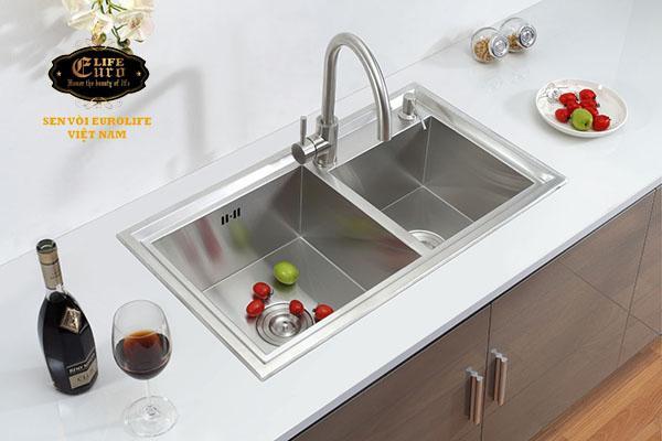 Chậu rửa chén Handmade Inox SUS 304 Eurolife EL-C1-1.jpg
