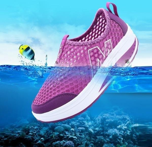 Giày lưới thể thao nữ đế cao ZANI ZN53308