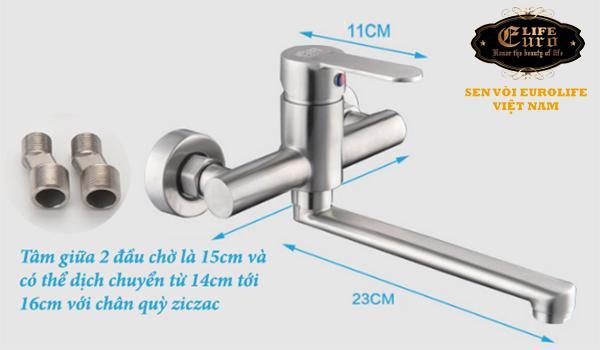 Vòi rửa chén nóng lạnh âm tường Inox SUS 304 Eurolife EL-1304-10.jpg