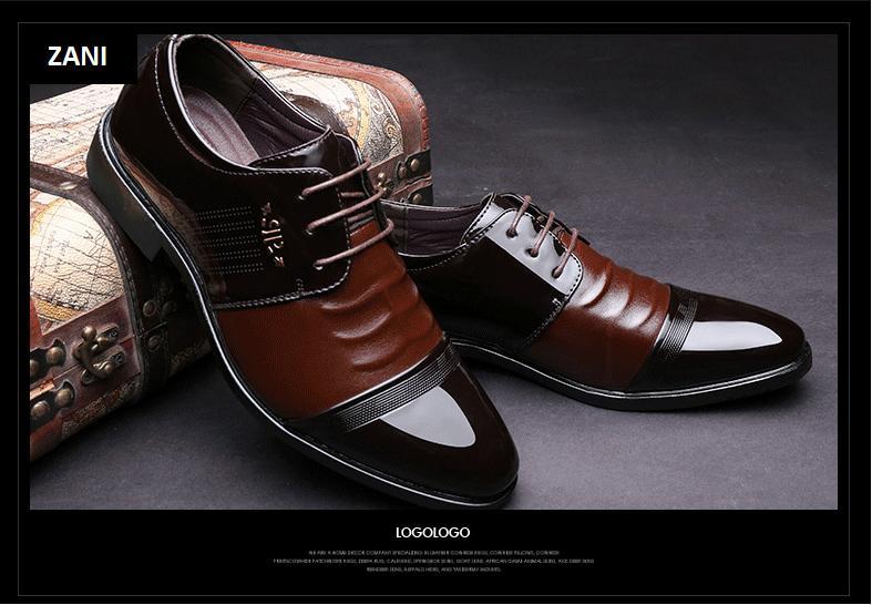 Giày tây da nam đế cao Zani ZM51913N-Nâu