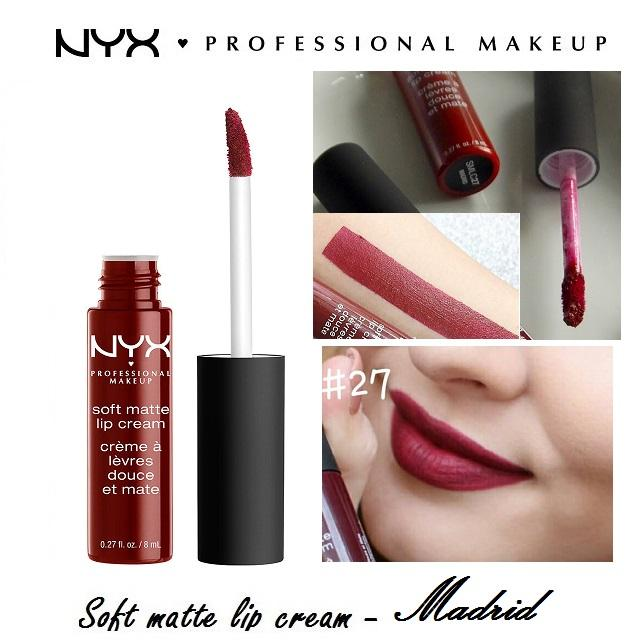 Son kem NYX Professional Makeup Soft Matte Lip Cream SMLC27 Madrid