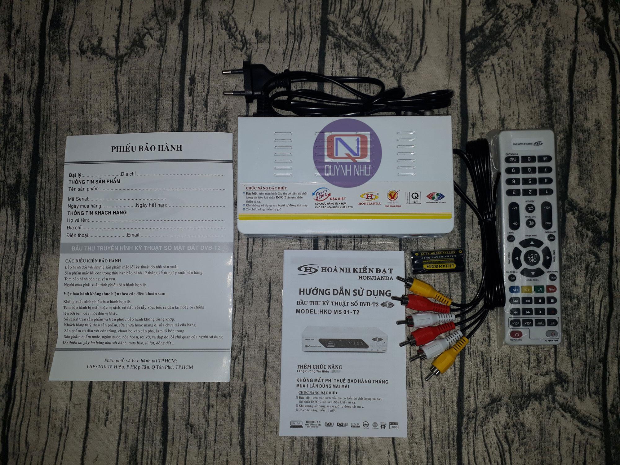 ĐẦU THU TRUYỀN HÌNH SỐ MẶT ĐẤT HOÀN KIẾN ĐẠT (MODEL HKD MS 01-T2) + CÁP  HDMI - Đầu thu kỹ thuật số [Hồ Chí Minh]
