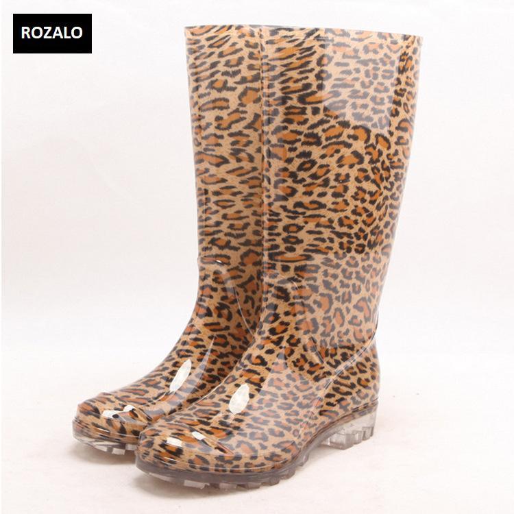 Ủng đi mưa nữ nhựa PVC đế chống trơn trượt Rozalo RW5868L2.jpg