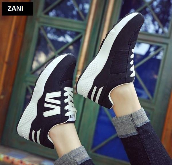 Giày sneaker thể thao nữ ZANI ZW3506WB-Trắng Đen