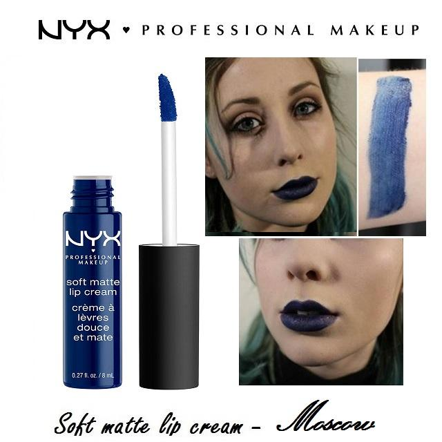 Son Kem NYX Professional Makeup Soft Matte Lip Cream Moscow Smlc31 + Tặng 1 chì kẻ mắt đen siêu mảnh NYX Professional Makeup Slim Eyes Pencil Black