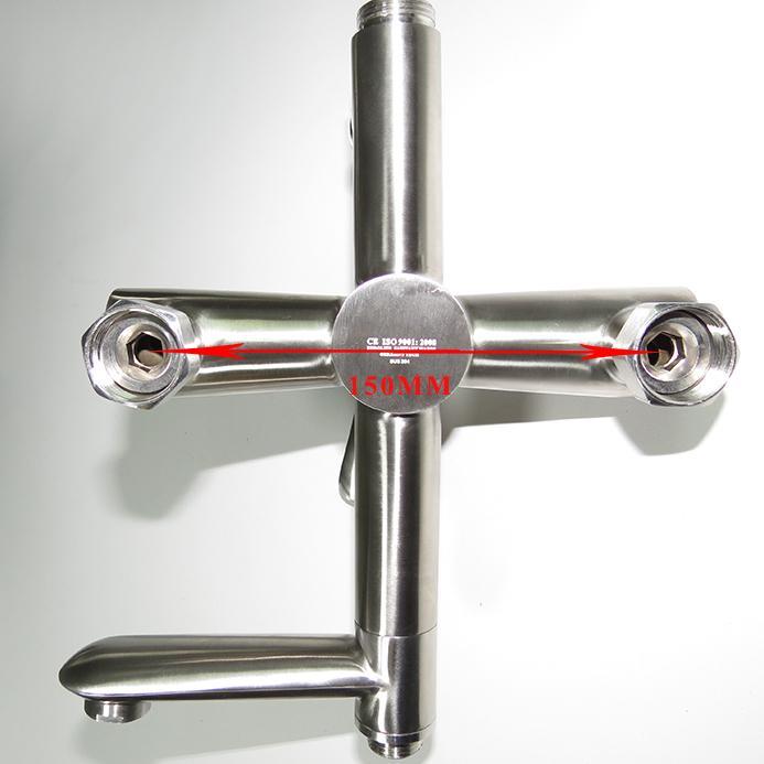 Bộ sen tắm đứng nóng lạnh Inox SUS 304 Eurolife EL-S917 (Trắng vàng)-11.jpg
