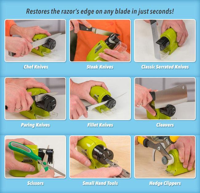 Dụng cụ mài dao kéo Swifty Sharp đa năng, tiện dụng