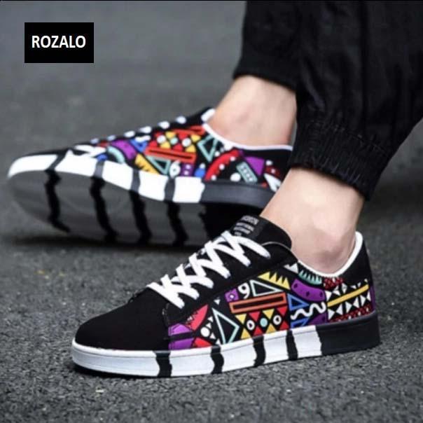Giày sneaker thời trang nam in họa tiết Rozalo RM5662D-Đen.jpg