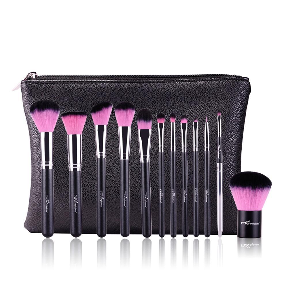 Bộ cọ trang điểm MSQ màu hồng 12 cây MSQ New Arrival 12Pcs Make up Brush (pink) 1