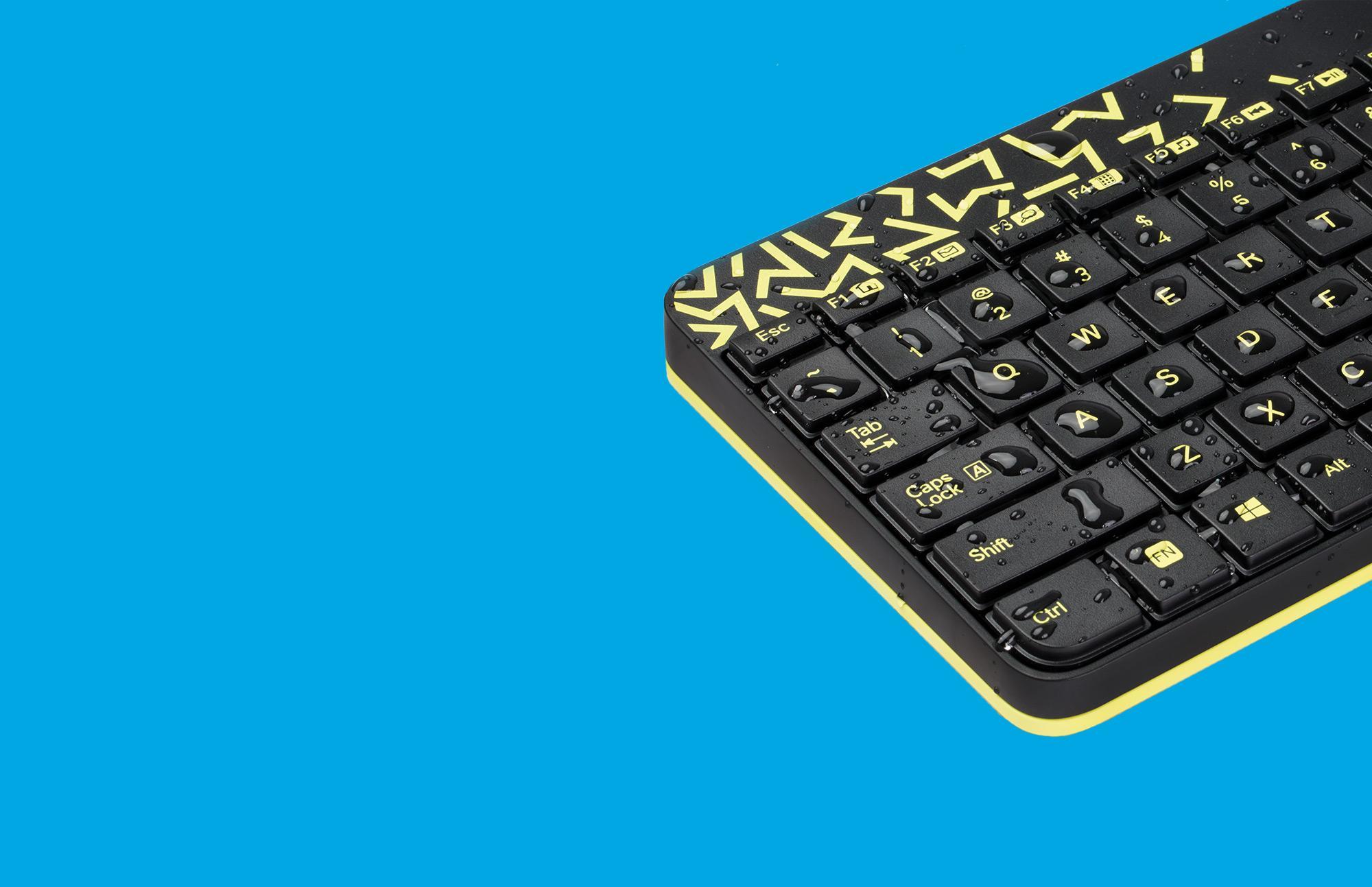 Bộ bàn phím và chuột không dây Logitech MK240 (Trắng đỏ) - Hãng phân phối chính thức 4.jpg