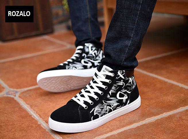 Giày cổ cao thời trang nam Rozalo RM6509B-Đen.jpg