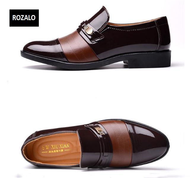 Giày tây nam cao cấp kiểu xỏ Rozalo RM56353