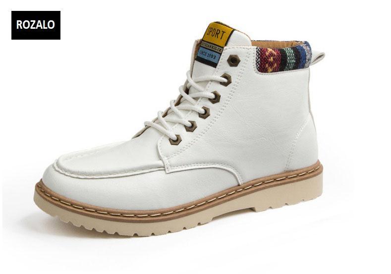 Giày nam cổ cao dã ngoại chống thấm đế bằng Rozalo4.jpg