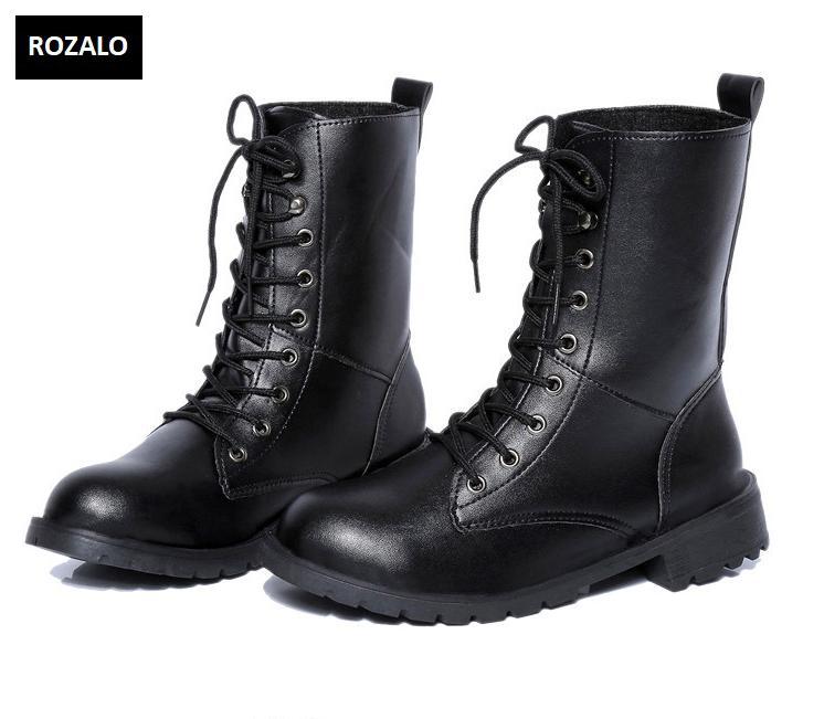 Giày boot nữ cổ cao đế thấp Rozalo RW67517B-Đen5.png