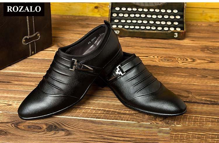 Giày tây thời trang Rozalo RM51618B - Đen
