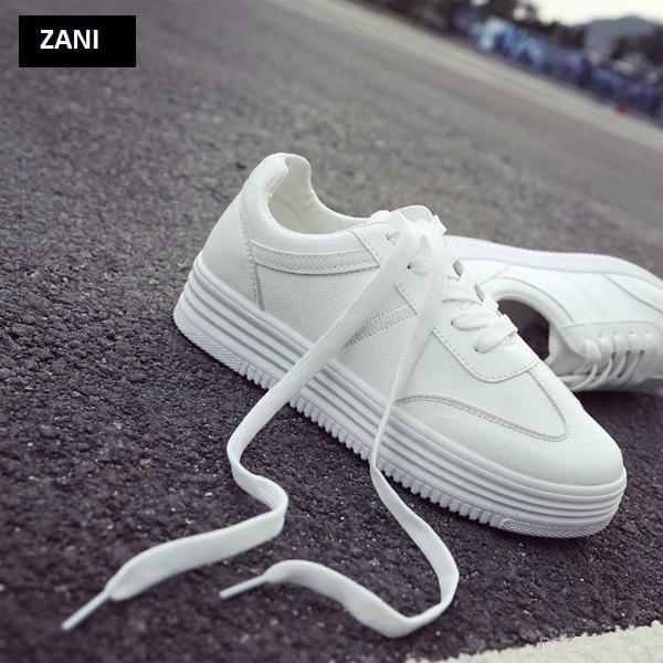 Giày thời trang nữ buộc dây ZANI ZW31102WA-Trắng