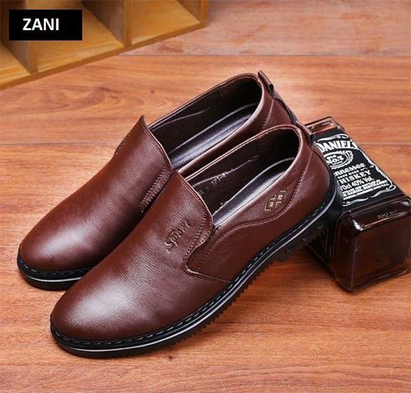 Giày tây da nam kiểu giày lười ZANI ZN5171N-Nâu