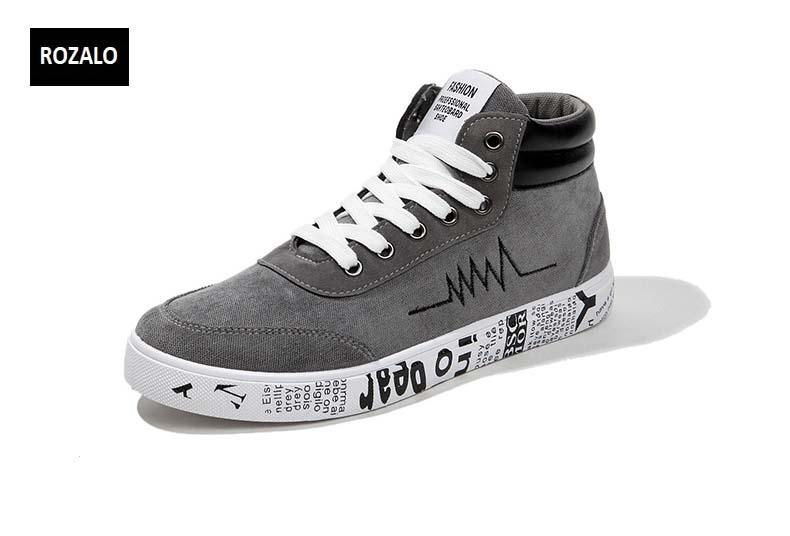 Giày vải casual nam cổ cao Rozalo RM55709