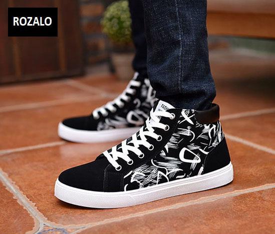 Giày cổ cao thời trang nam Rozalo RM6509B-Đen2.jpg
