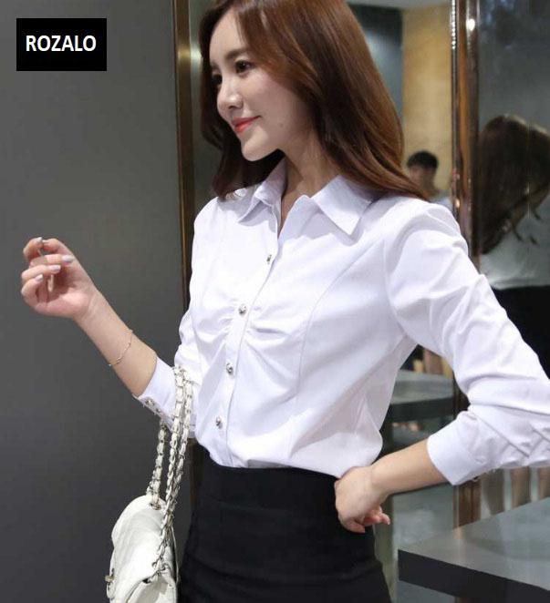 Áo sơ mi nữ dài tay thời trang công sở Rozalo RW2339W-Trắng3.jpg