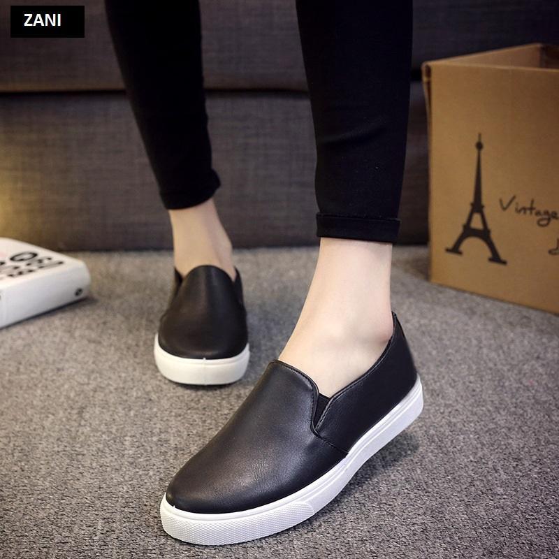 Giày lười slip on nữ ZANI ZN2117B-Đen