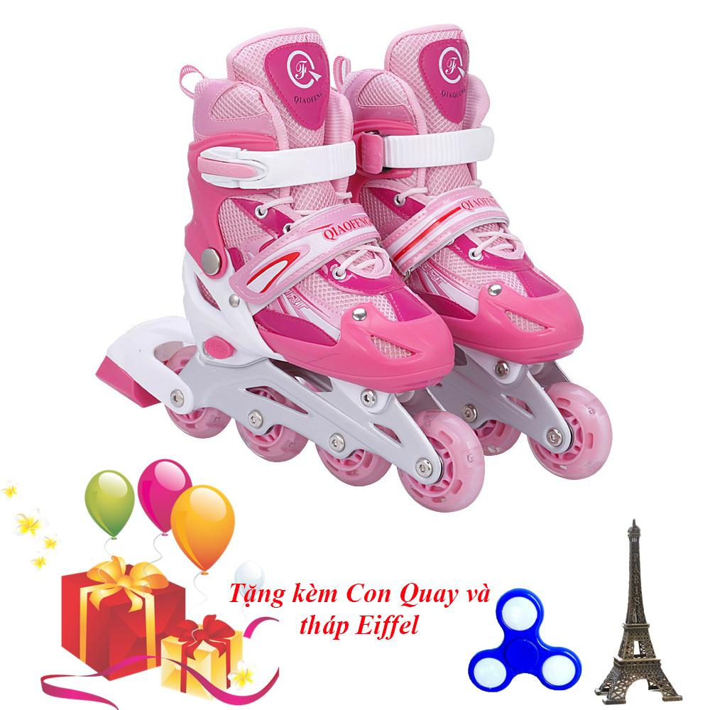Giày Trượt Patin Gắn Đinh Phát Sáng Bánh SIZE M - VIVA SPORT  ( TẶNG CON QUAY SPINNER & THÁP EIFFEL CAO CẤP )